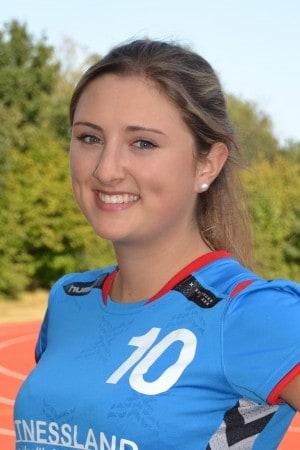 Anna Lucia Sutor zeigte ihre Vielseitigkeit und machte es den Barumer Spielerinnen schwer Tore zu erzielen.